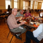 Members enjoy lunch prior to the general meeting.