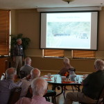 Member Tom Mills gives a a/v presentation at the October 2015 meeting.