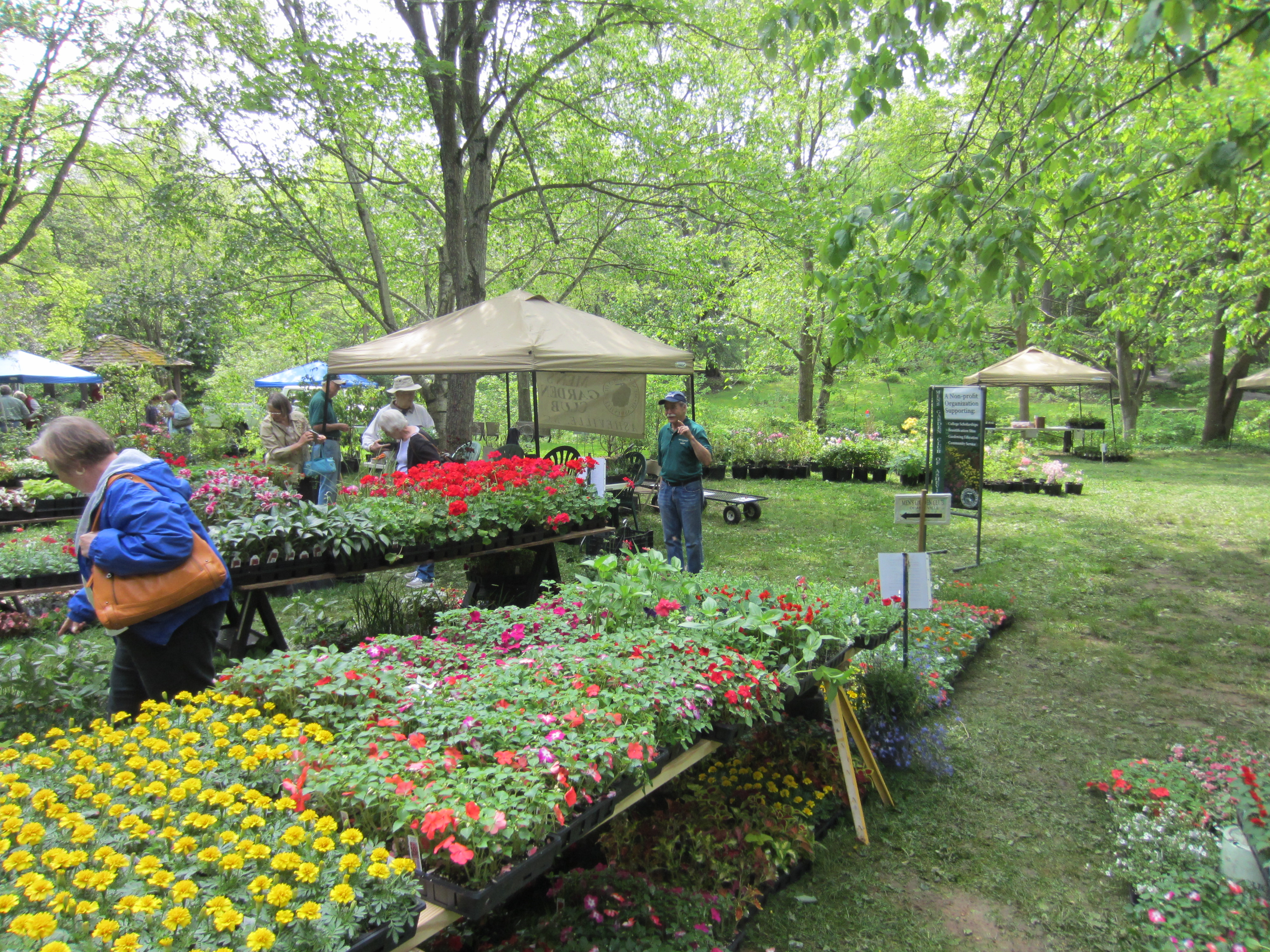 A Table At The Menu0027s Garden Club Plant Sale