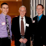 MGC Gerry Hardesty Scholarship recipient Blake Elkin (2014) and Austin Elkin (2013) pose with MGC's Gerry Hardesty. Pictured L to R. Blake, Gerry, Austin.